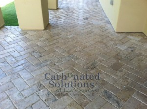 Travertine Patio Paver Cleaning & Sealing
