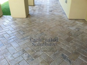 Travertine Paver Cleaning & Sealing