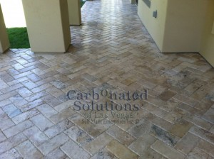Travertine Paver Sealing Las Vegas www.carbonatedsolutionsoflasvegas.com